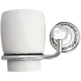 Стакан подвесной для зубных щёток «Bogema» латунь цвет хром