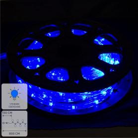 Электрогирлянда для улицы дюралайт синий 8 м, 24 лампы