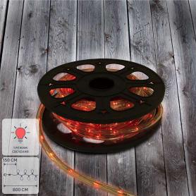 Электрогирлянда для улицы дюралайт красный 8 м, 24 лампы