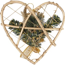 Украшение «Сердце золотое» 20 см