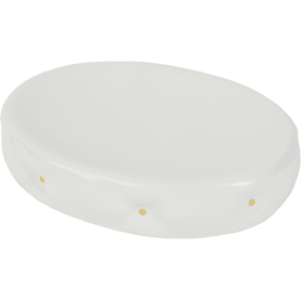 Мыльница настольная «Sovy» керамика цвет белый