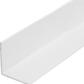 Уголок алюминиевый 30х30х1.5, 1 м, белый муар