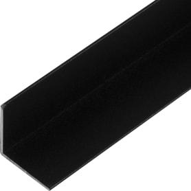 Уголок алюминиевый 30х30х1.5, 1 м, черный муар