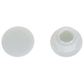 Заглушка на отверстие 8 мм полиэтилен цвет белый, 40 шт.