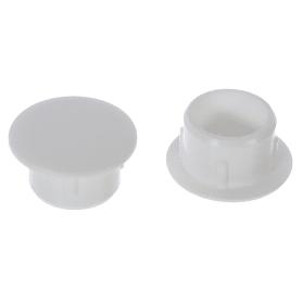 Заглушка для дверных коробок 12 мм полиэтилен цвет белый, 20 шт.
