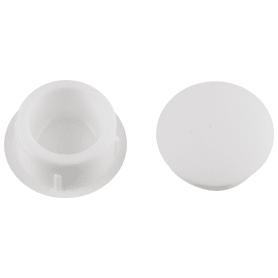 Заглушка для дверных коробок 14 мм полиэтилен цвет белый, 20 шт.