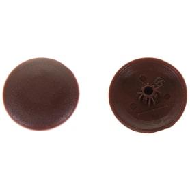 Заглушка на шуруп-стяжку Hex 5 мм полиэтилен цвет коричневый, 40 шт.