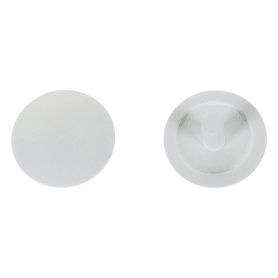 Заглушка на шуруп-стяжку PZ 5 мм полиэтилен цвет белый, 40 шт.