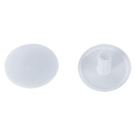 Заглушка на шуруп-стяжку PZ 7 мм полиэтилен цвет белый, 50 шт.