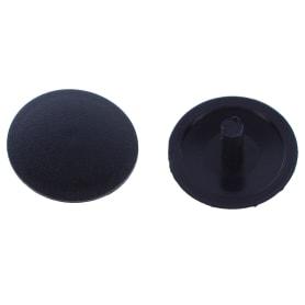 Заглушка на шуруп-стяжку PZ 7 мм полиэтилен цвет чёрный, 50 шт.