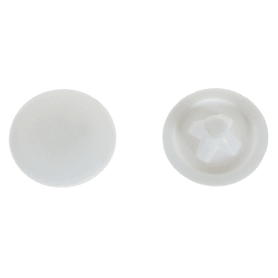 Заглушка на шуруп PZ 3 12 мм полиэтилен цвет белый, 50 шт.