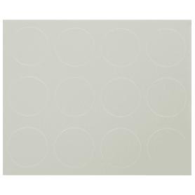 Заглушка самоклеящаяся 18 мм меламин цвет белый, 21 шт.