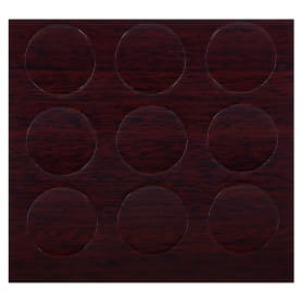 Заглушка самоклеящаяся 18 мм меламин цвет махагон, 21 шт.