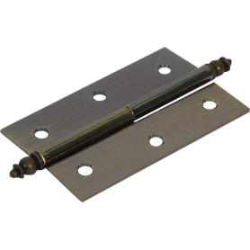 Петля мебельная карточная съёмная левая Amig 541, 70х43 мм, сталь, цвет бронза