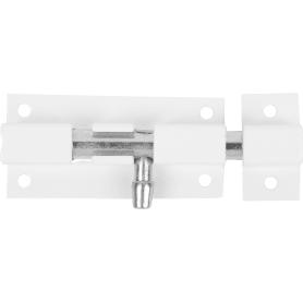 Задвижка прямоугольная Левша ШП-60, 40х30 мм, цинк/сталь, цвет белый