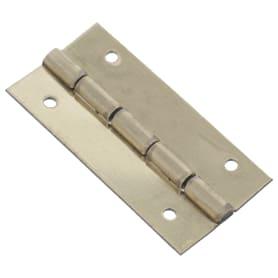 Петля накладная для шкатулки, 12х25х0.5 мм, металл, цвет латунь, 4 шт.