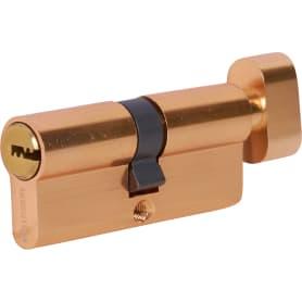 Цилиндр перфорированный Al 70 С T01 PB ключ-вертушка, золото