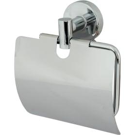 Держатель для туалетной бумаги Mr Penguin «Sonata» с крышкой цвет хром