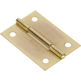 Петля мебельная карточная Левша, 45х30 мм, сталь, цвет золото, 2 шт.
