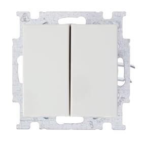 Выключатель встраиваемый ABB Basic 55 2 клавиши, цвет белый