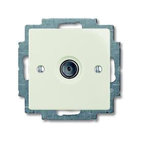 ТВ-розетка оконечная встраиваемая ABB Basic 55 шлейф, цвет белый