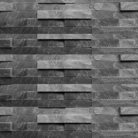 Камень натуральный Сланец, цвет чёрный, 0.63 м2