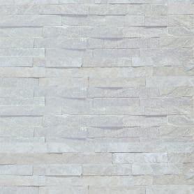 Камень натуральный Кварцит, цвет белый, 0.63 м2