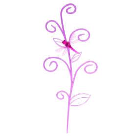 Держатель для комнатных растений «Стрекоза на ветке», цвет розовый