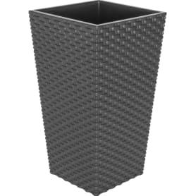 Горшок цветочный «Ротанг» D20, 5л., пластик, Коричневый