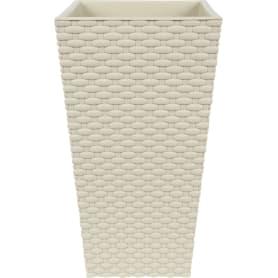 Горшок цветочный «Ротанг» D20, 5л., пластик, Белый