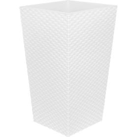 Горшок цветочный «Ротанг» D26, 7, 6л., пластик, Белый