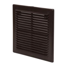 Решетка вентиляционная вытяжная АБС, 2121Р, 208х208, цвет коричневый