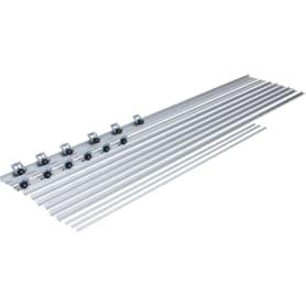 Система для раздвижных дверей Betta 2700 мм для 3 дверей цвет серебро