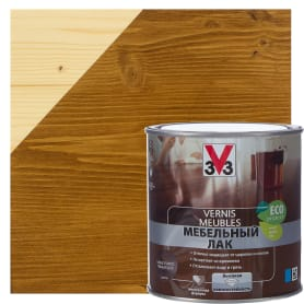 Лак для мебели V33 акриловый цвет тёмный дуб 0.5 л