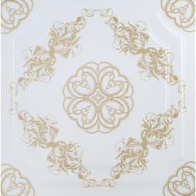 Плита потолочная экструдированная FX Ф1-019, 2 м2, цвет золотой