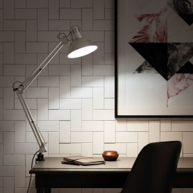 Настольная лампа Inspire Arquitecto 1xE27x60 Вт, металл/пластик, цвет серебро