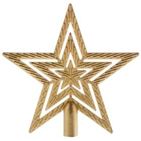 Верхушка для ёлки «Звезда» 18 см, цвет золотой