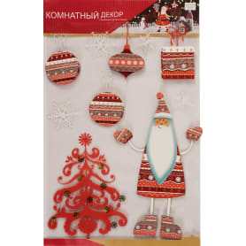 Наклейки 3D «Веселый Санта»