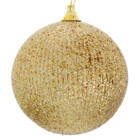 Шар ёлочный, 8 см, цвет золото