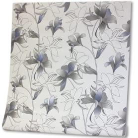 Обои на флизелиновой основе 1.06х10 м цветы цвет чёрно-белый VS 988101