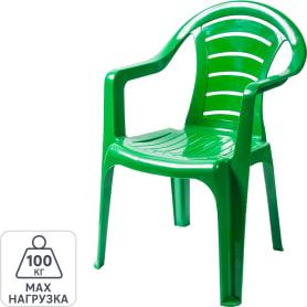 Кресло садовое зелёное 567x825x578 мм, пластик
