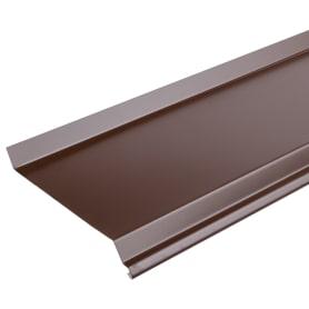 Отлив 100x2000 мм цвет коричневый