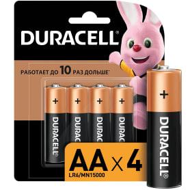 Батарейка алкалиновая Duracell AA/LR6 4 шт