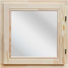 Окно деревянное 58x58 см, однокамерный стеклопакет