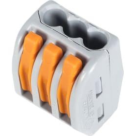 Клемма соединительная 222-413, 3 разъёма под провода, 20 шт.