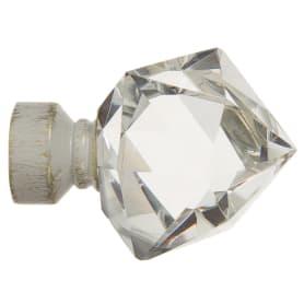 Наконечник «Куб стекло» 7 см цвет белый антик