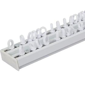 Карниз шинный двухрядный с потолочным держателем 160 см алюминий цвет белый