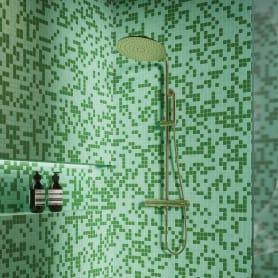 Мозаика 32.7х32.7 см стекломасса цвет зелёный