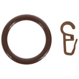Кольца с крючками  28 мм цвет орех, 4 шт.