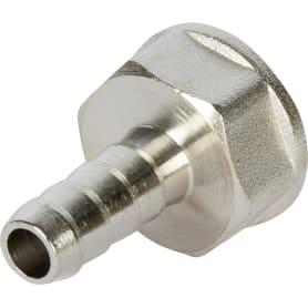 Штуцер газовый Ростерм, для шланга, латунь/сталь